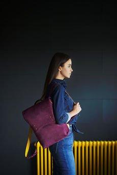 Emilia Arendt - Plecak skórzany damski uszyty ręcznie z włoskiej s