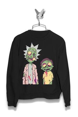 Bluza Rick i Morty Zombie Damska