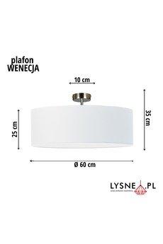 LYSNE - Klasyczna lampa na sufit WENECJA fi - 60 cm