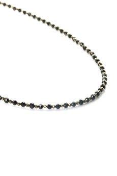 Brazi Druse Jewelry - Colare Spinel z Pirytem złoto