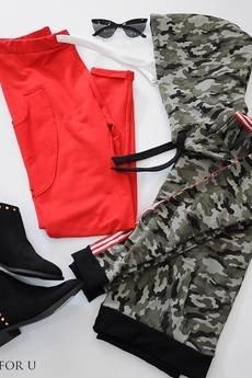 3 FOR U - Spodnie czerwone