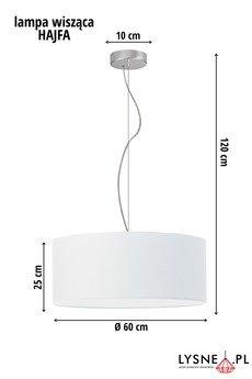 LYSNE - HAJFA lampa wisząca do salonu fi - 60 cm