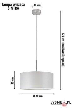 LYSNE - Szara lampa sufitowa SINTRA fi - 30 cm