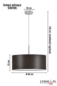 LYSNE - Wiszące oświetlenie z denkiem SINTRA fi - 60 cm