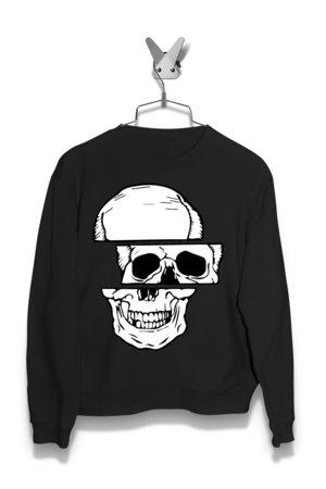 Bluza 3 poziomy czaszki Damska