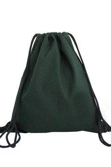 Szczypta - Zielony worek w geometryczny wzór, 100% bawełna