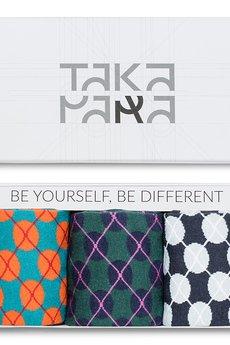 TAKAPARA - Zestaw prezentowy Wólczańska - Skarpetki łydki (3- pack)