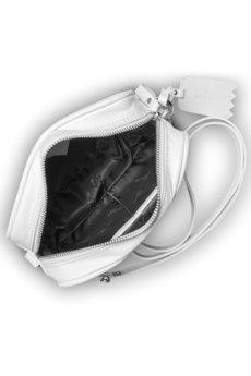 GAWOR - Skórzana biała listonoszka