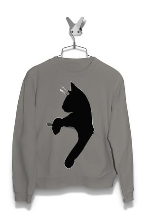 Bluza Kot Czarny Męska