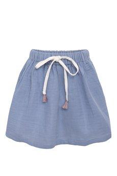 aQademia - Spódnica z niebieskiego muślinu