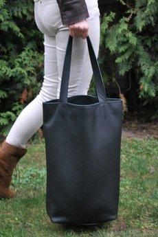 pracownia6-9 - Duża skórzana torba Hobo
