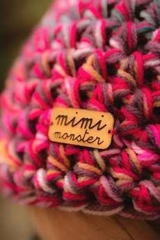 Mimi Monster Alicja Łaciak - Czapka Hand Made No. 040 / beanie / szydło / czapka szydełkowa / czapka krasnal / czapka damska / czapka narciarska