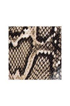 Furora Subtera - Torebka beżowy wąż z czarnym paskiem Furora