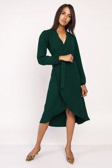 Lanti - Asymetryczna, kopertowa sukienka, SUK160