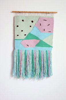 Mj tkaniny - mała tkanina z haftowanymi elementami