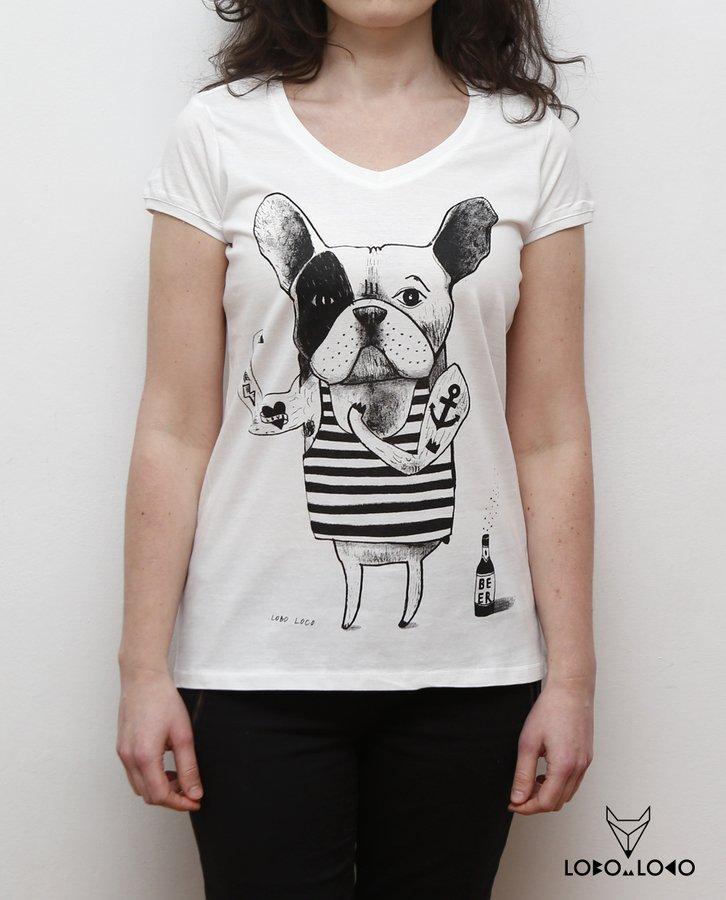 Koszulka Damska Buldogiem Francuskim