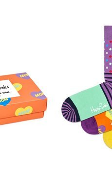 HAPPY SOCKS - Giftbox I LOVE YOU MOM (3-pak) skarpetki Happy Socks XMOT08-7300
