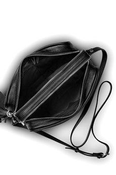 GAWOR - Czarna skórzana listonoszka długi pasek