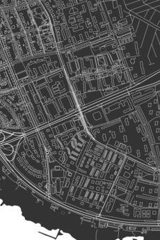 maps by P - dzielnica Praga Południe / Warszawa