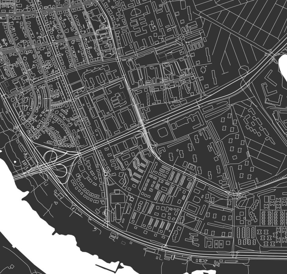 Dzielnica Praga Poludnie Warszawa Bialy Maps By P Plakaty