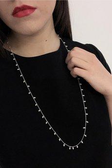 ATdiament - Srebrny naszyjnik długi z perełkami