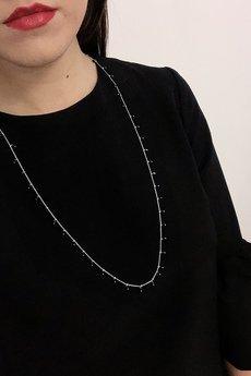 ATdiament - Srebrny naszyjnik długi z onyksami