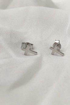 ATdiament - Srebrne kolczyki krzyże sztyft