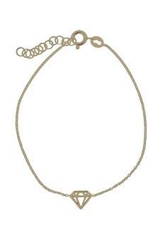 ATdiament - Srebrna pozłacana bransoletka diament
