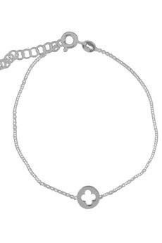 ATdiament - Srebrna bransoletka koniczyna