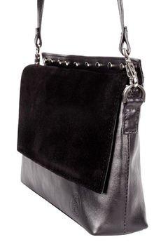 Emilia Arendt - Elegancka torebka szyta ręcznie, ćwieki
