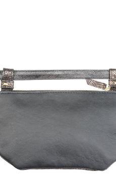 531e470a4a0b0 ... Emilia Arendt - Skórzana damska torebka typu nerka szyta ręcznie ze  skóry w wężowym wzorze ...