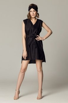 SOVL - Lniana sukienka Roma czarna