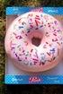 Poduszka donut paczek z posypka rozowy