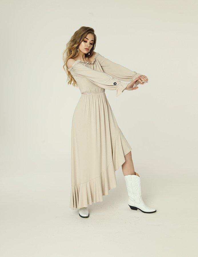 cb78bfe0dd Sukienka Emma - Jasny Beż - Beżowy
