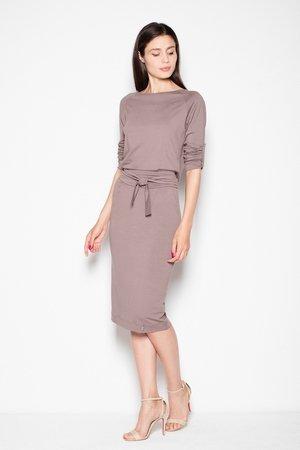 Ołówkowa sukienka z wiązaniem