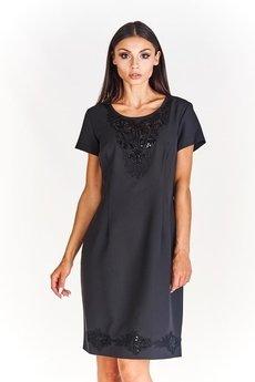 Bird - Elegancka sukienka ze zdobieniami