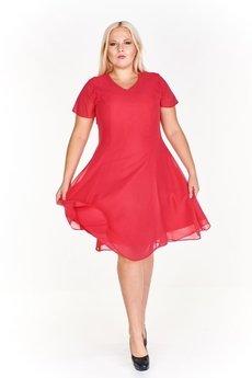 33d7e0a18a ... Bird - Koktajlowa sukienka ze zwiewnej tkaniny ...