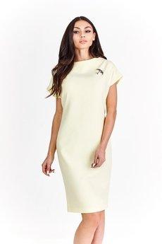 Bird - Sukienka z ozdobną broszką