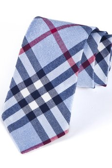 HisOutfit - Krawat męski PINTO błękit
