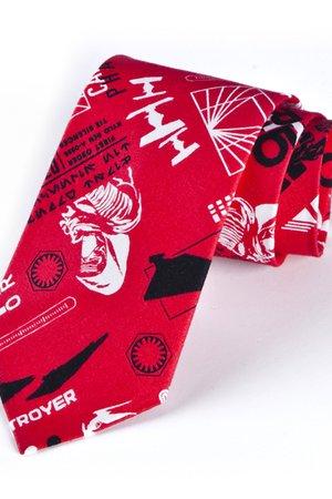Krawat męski STAR WARS czerwony