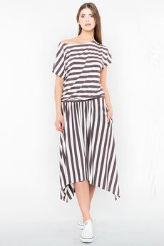 Candy Floss - Sukienka maxi Megan White Stripes