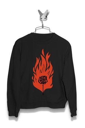 Bluza Paląca się róża Damska