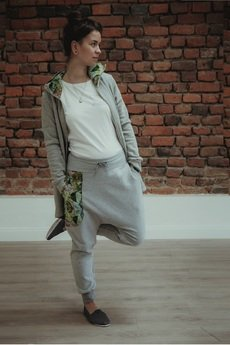 Mimi Monster Alicja Łaciak - Spodnie damskie - Jungle - baggy - jogger - szare
