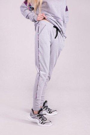 Spodnie dresowe damskie ze ściagaczem -SZARE
