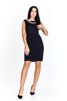 Bird - Ołówkowa sukienka z ozdobą a'la kolia