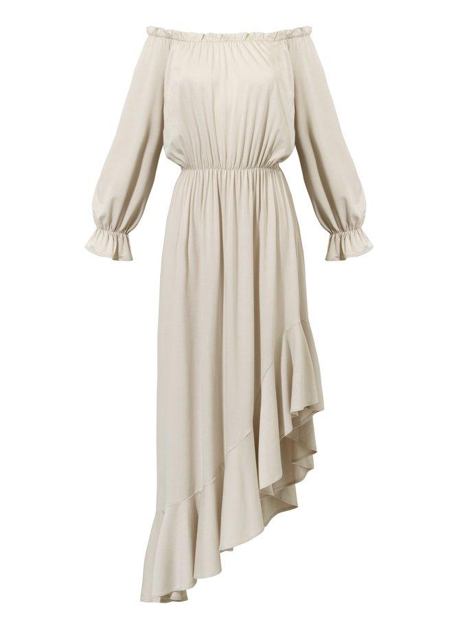3b9bbc0a00 Sukienki Midi Sukienki z Wiskozy Sukienki Asymetryczne Sukienki z Falbaną