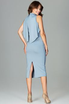LENITIF - Sukienka K480 Niebieski