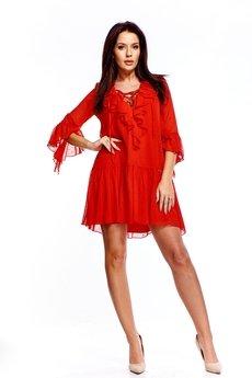 Bird - Szyfonowa sukienka we wzory