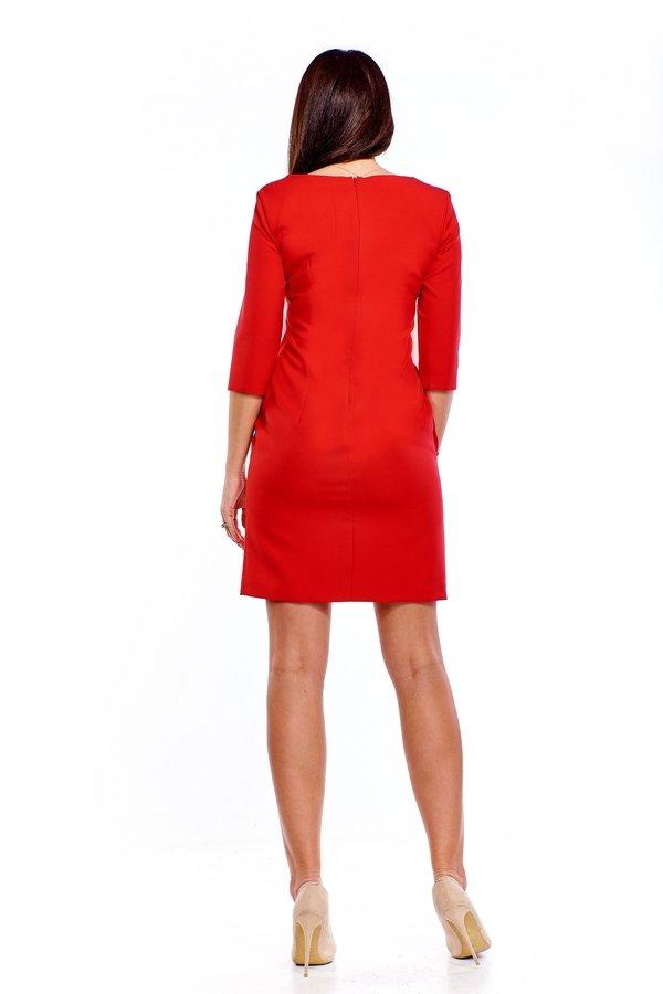 05aee07186 Sukienka Z Asymetryczną Bluzką - Czerwony