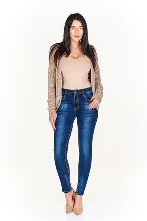 Jeansowe rurki z przetarciami